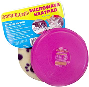 Snuggle Safe Almohadilla de calor inalámbrica de microondas con cobertura de forro polar (el color