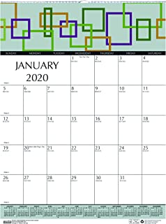product image for House of Doolittle 2020 Monthly Wall Calendar, Geometric, 12 x 16.5 Inches, January - December (HOD3492-20)