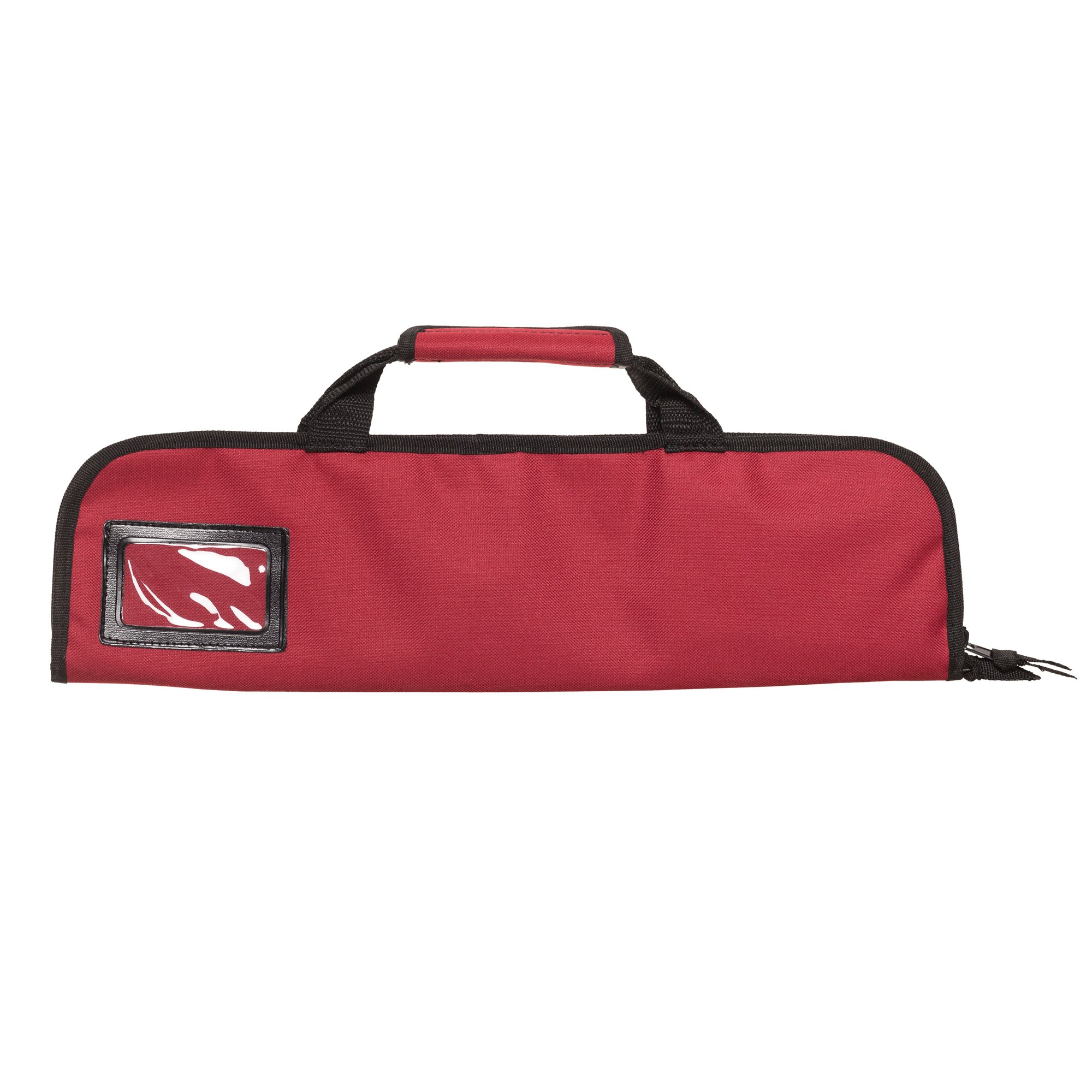 5 Pocket Padded Chef Knife Case Roll with 5 pc. Edge Guards (Red 5 Pocket bag w/5pc. Black Edge guards) by Ergo Chef (Image #3)