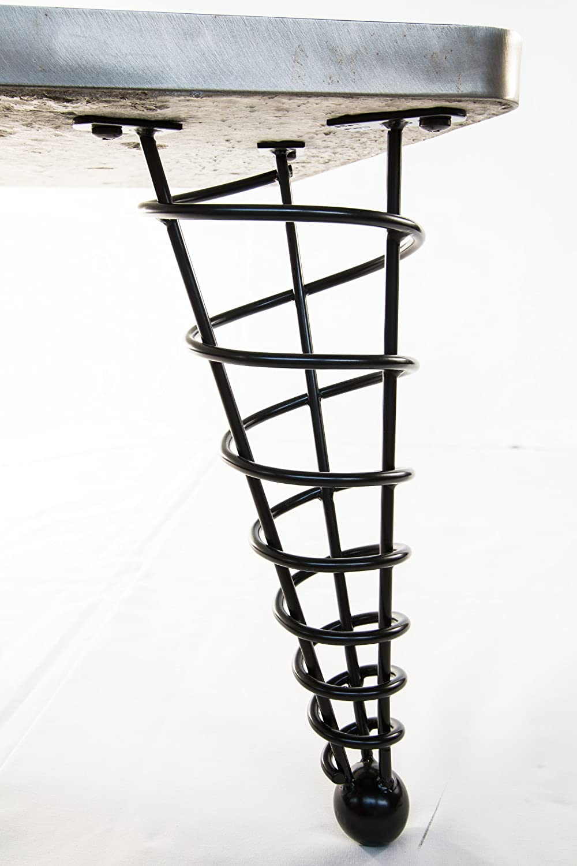 Handmade Modern Table Leg, 14 Inch Height, Angled, Single Leg   Furniture  Legs   Amazon.com