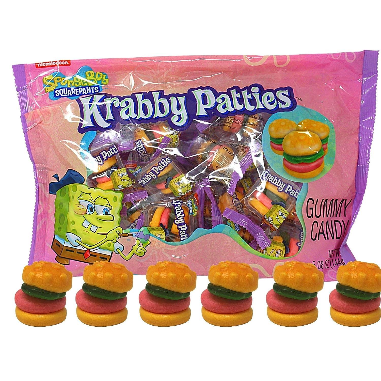 Sponge Bob Square Pants (1 bag) Easter Gummy Krabby Patties Candy - Perfect for Egg Hunts and Baskets - 5.08 oz / 144 g