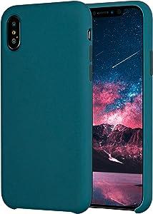Krazi Original Soft Case iPhone Xs Case/iPhone X Case, Liquid Silicone Gel Rubber Soft Touch Case for iPhone X/XS 5.8 inch (2018), Cosmos Blue