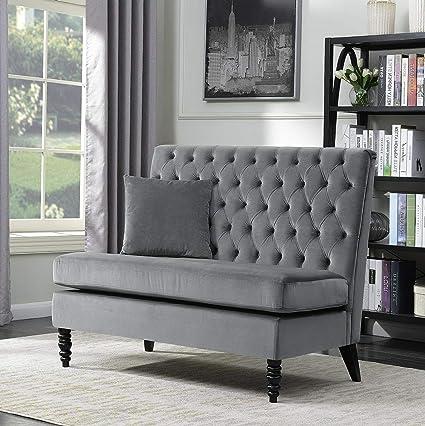 Amazon.com: Hebel New Modern Tufted Settee Bedroom Bench ...