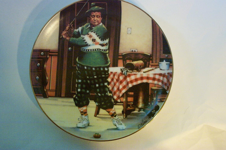 The Honeymooners Plate 1987 The Golfer