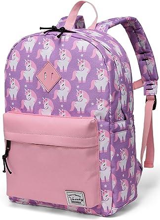 Backpack for Kids Girls School Backpack Preschool BookBag with Chest Strap for Kindergarten Elementary