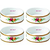 """Royal Albert Old Country Roses Napkin Ring (Set of 4), 2.2"""", Multicolor"""