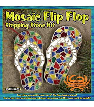 Amazon midwest products mosaic flip flop stepping stone kit midwest products mosaic flip flop stepping stone kit pronofoot35fo Images