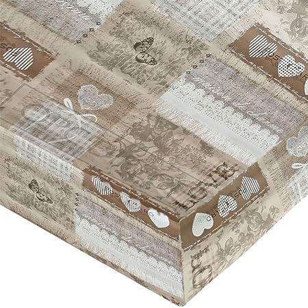 QPC Direct - Mantel de Vinilo para Mesa (PVC, 2 m), Color Beige ...