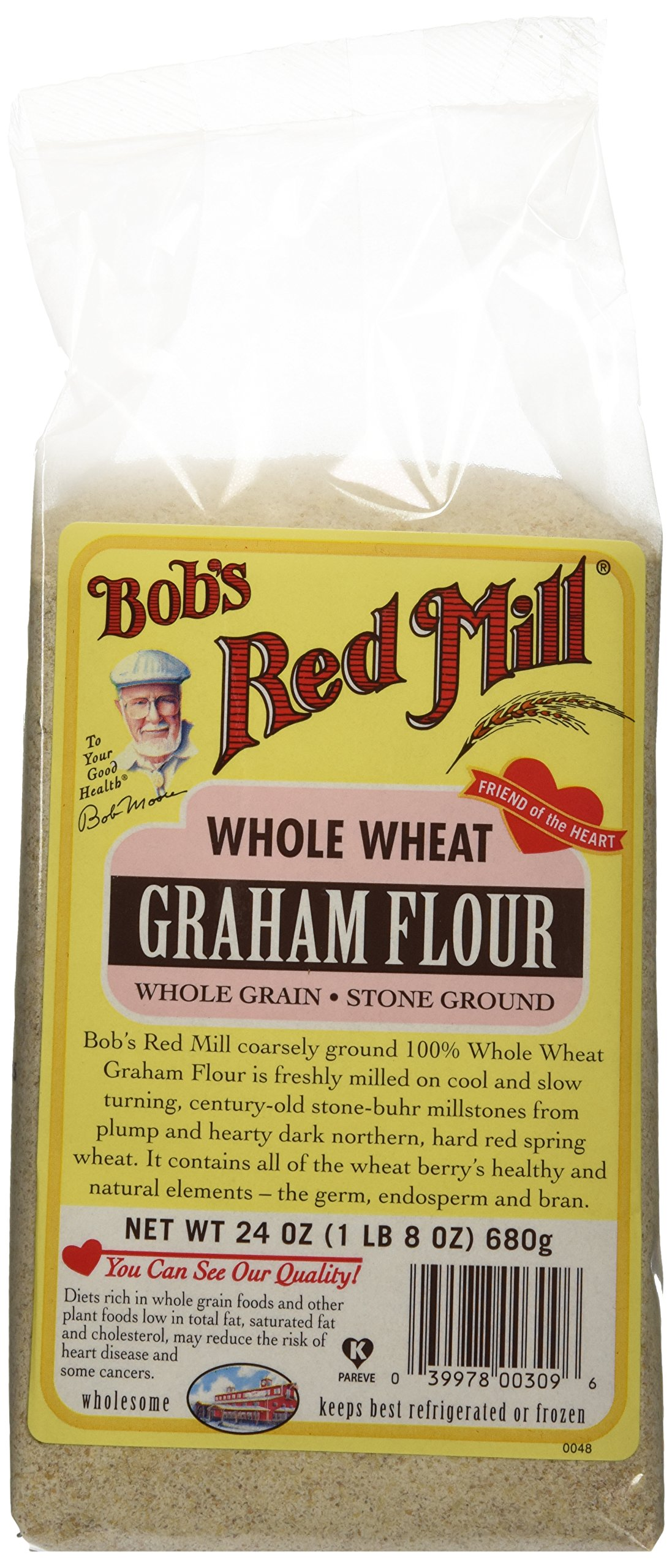 Bob's Red Mill Flour Graham, 24-ounces (Pack of4)