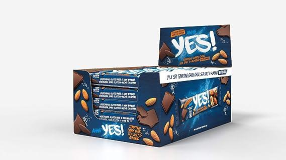 Yes! Barrita De Almendras Con Cobertura De Chocolate Negro y ...