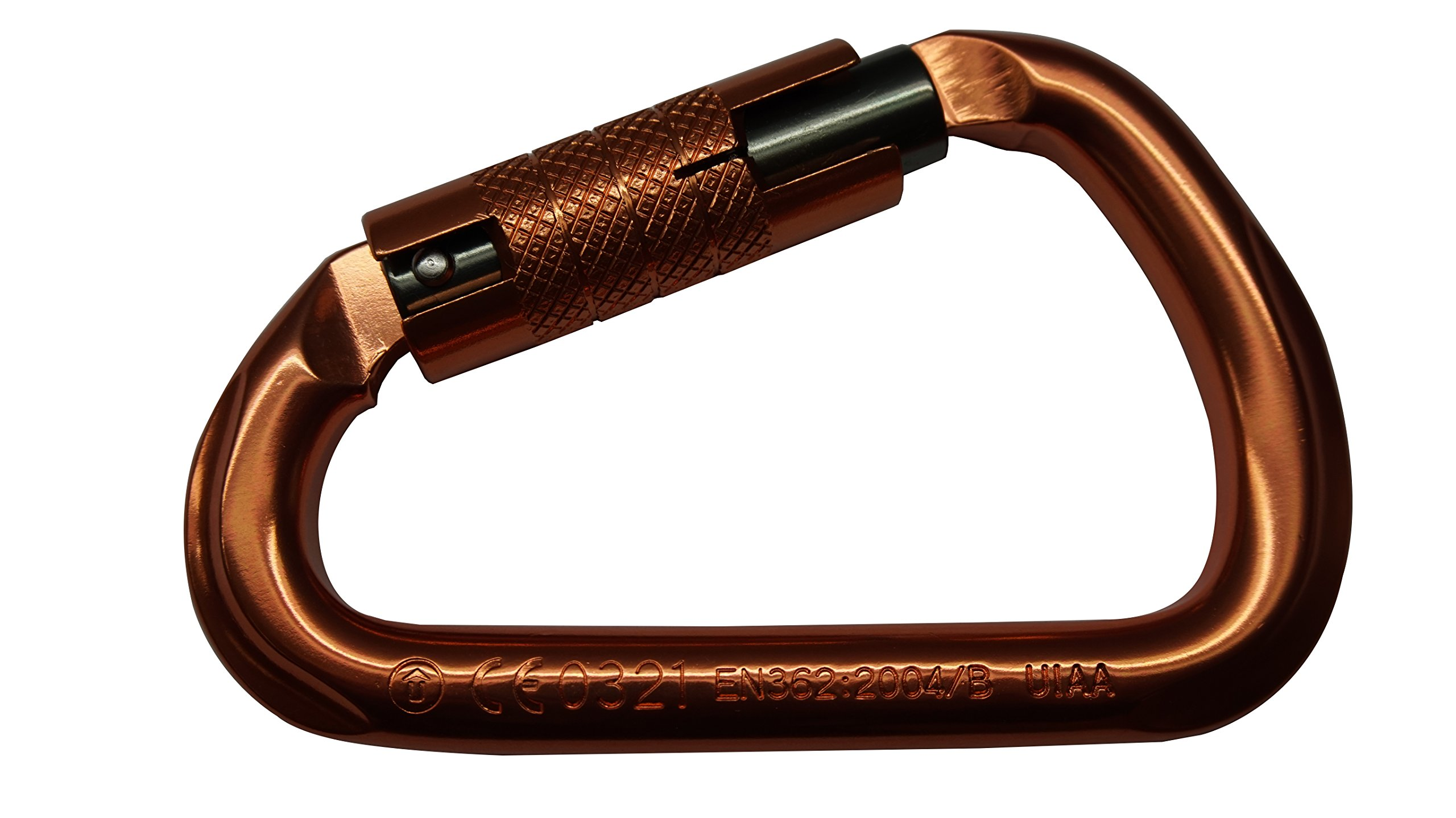 ProClimb USR-128-A3TU Head Carabiner, 2.87'' Height, 2.87'' Wide, 4.49'' Length, Aluminum, Copper