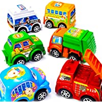 Small Toy Cars Set of 6 - Toy for 3 Year Old and Above