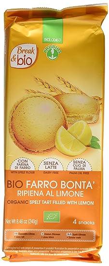 Probios Break&Bio Pastel de Espelta Relleno Al Limon - 12 paquetes