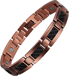 VITEROU Womens Czech Crystal Magnetic Solid Copper Bracelet for Arthritis Pain Relief,3500 Gauss