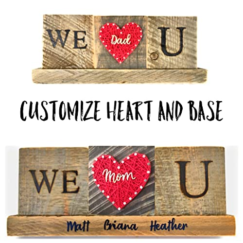 We Love you Mom Dad gift sign. A unique present