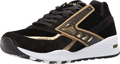 ac2497936a82c Brooks Heritage Men s Regent Black Gold Chrome Sneaker 9.5 D ...