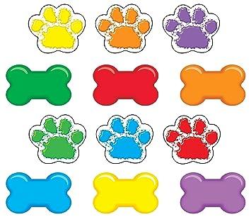 Paw Print Cutouts And Dog Bone Cut Outs Set Of 36 Mini Paw Prints Cutouts