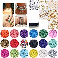Seed Beads 4000+ PCS Letter Beads and Pony Beads for Jewelry Making Bracelets Necklace Earring DIY Craft Kit with…
