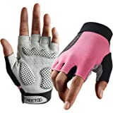 FREETOO Weight Lifting Workout Gloves for Women, Well-Padded Palm & Stretchy Netted Back, Comfortable Rubber Grip Gym Gloves