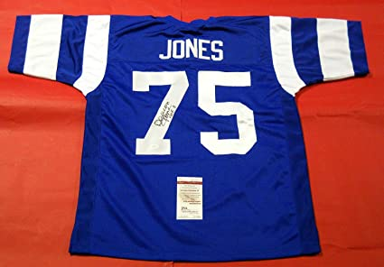 98afb7e6 Deacon Jones Autographed Signed Throwback Los Angeles Rams Jersey ...