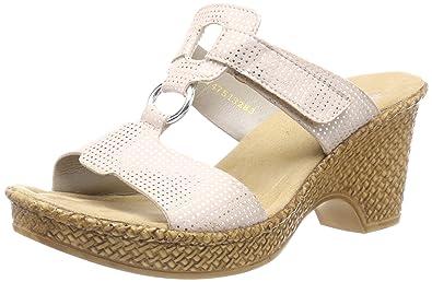 Bestbewertete Mode zum halben Preis Vorschau von Amazon.com | Rieker Damen-Pantolette rosa 900549-42, Grösse ...
