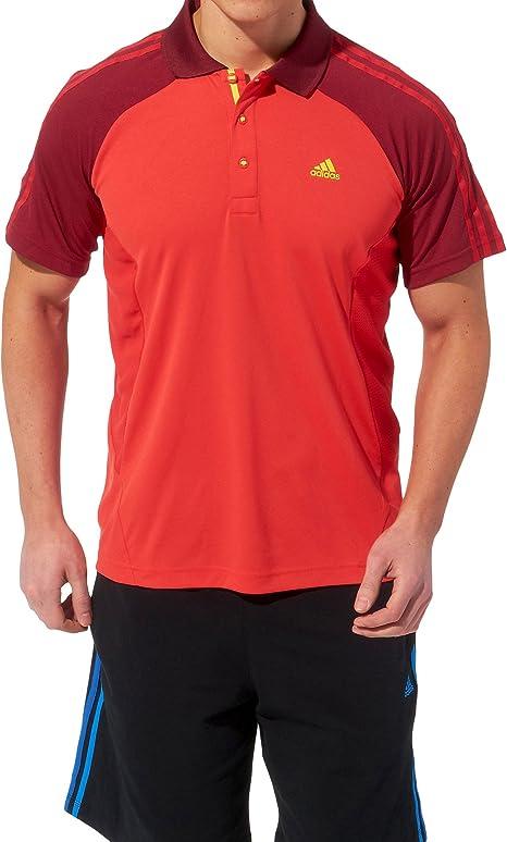 adidas Clima 365 Polo Polo Core Energy, Mujer Hombre, Rojo: Amazon ...