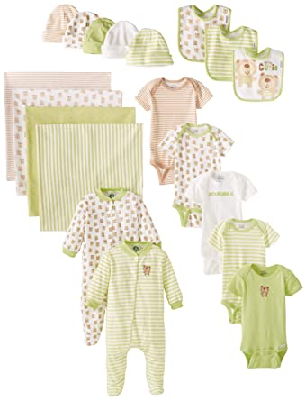 db1f35d21 Amazon.com: Gerber Unisex-Baby Newborn Unisex 19 Piece Essentials ...