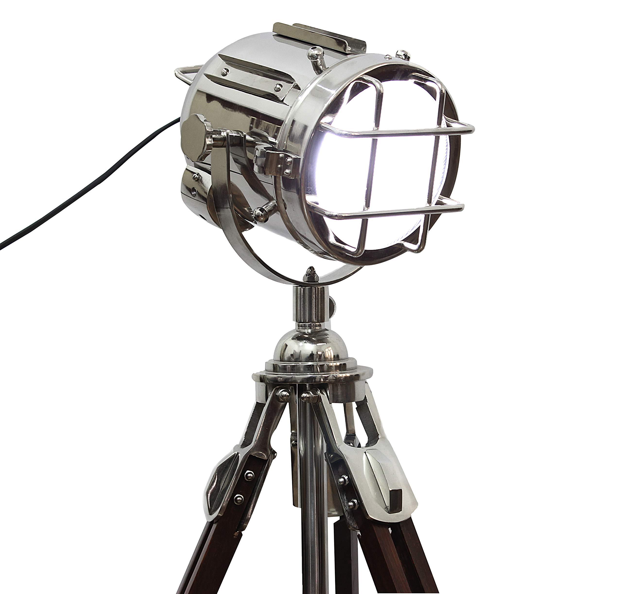 Vintage Searchlight Tripod Stand Authentic Spotlight Hollywood Spot Light Lamp