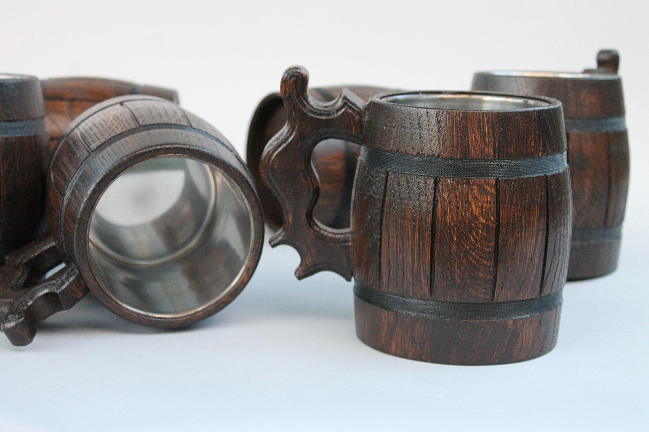 Set of 10 wooden beer mug Wedding Gift Wood Mug gift idea Wooden Tankard