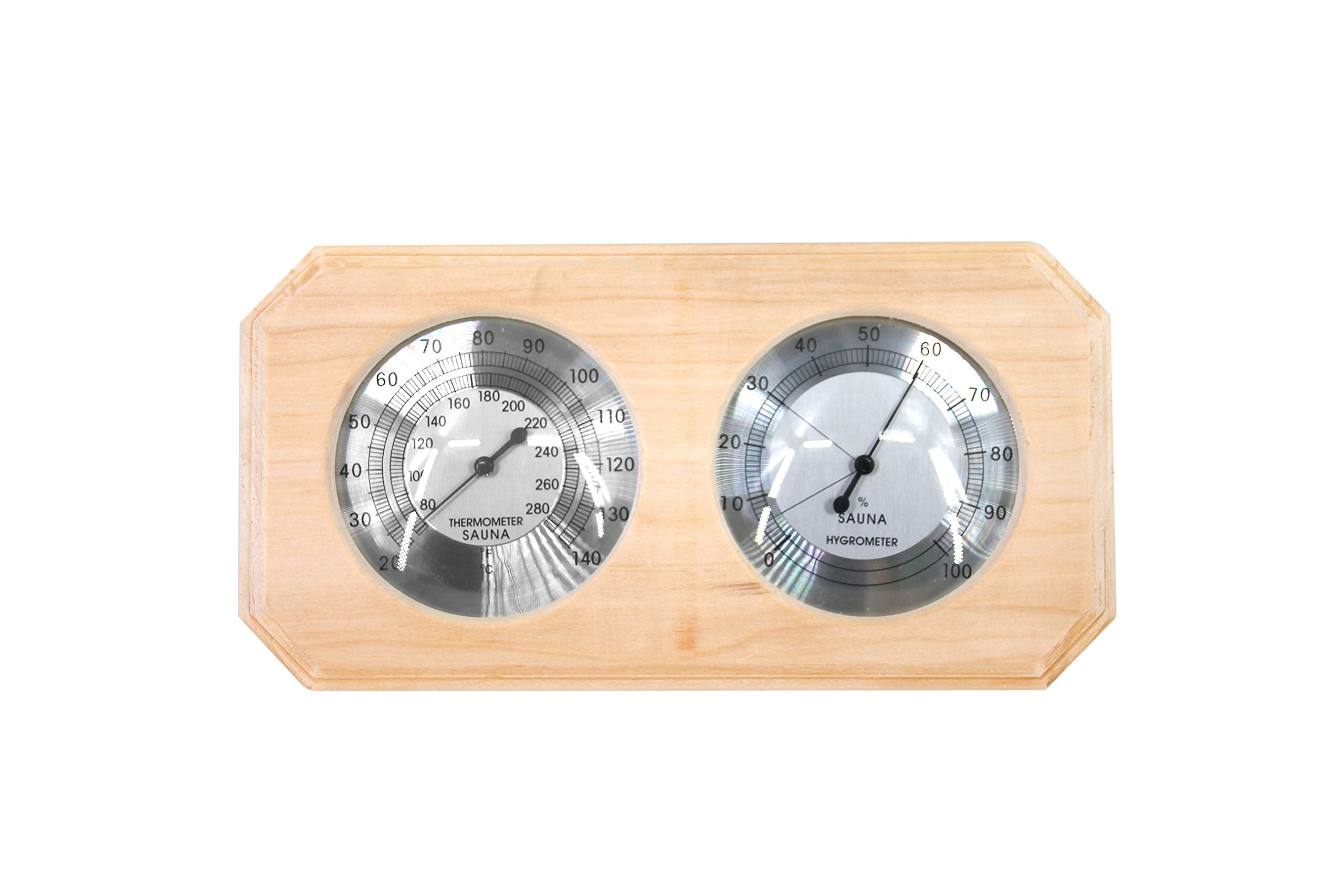 ALEKO WJ10 Thermo-Hygrometer for Sauna Handcrafted from Finnish Pine by ALEKO