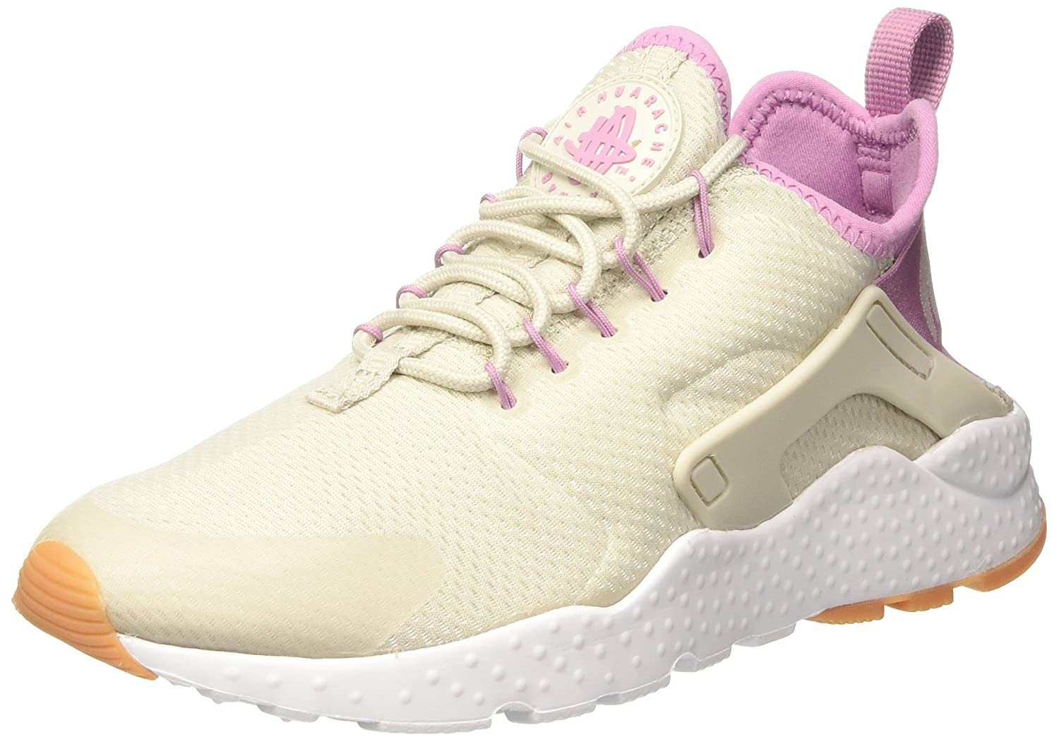 Nike Wmns Air Huarache Run Ultra, Entrenadores para Mujer 39 EU|Beige (Light Bone/Orchid/Gum Yellow/White)