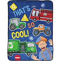 Jay Franco Blippi That's So Cool! Throw Blanket - Measures 46 x 60 inches, Kids Bedding - Fade Resistant Super Soft…