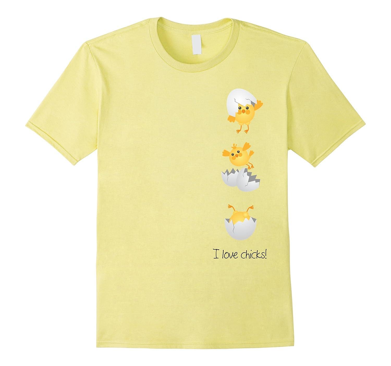 6dcd4e13 Aw Cute Chicken Shirts: Baby Chick Hatching Print T-shirt-CL – Colamaga
