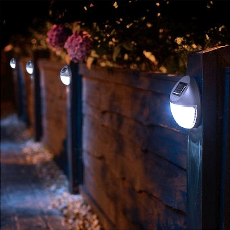 6 LED SOLAR POWERED FENCE LIGHTS WALL DOOR STEP  LIGHT OUTDOOR GARDEN LIGHTING