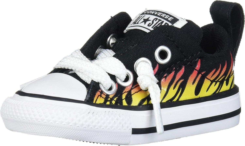 Converse Kids' Chuck Taylor All Star Street Flame Print Low Top Sneaker