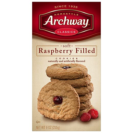 Archway, galletas rellenas de frambuesa (Pack de 4): Amazon ...