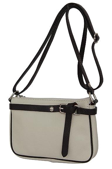 db74e501582d25 AMBRA Moda Damen Leder Umhängetasche, Clutch, Schultertasche, Citytasche, Crossbody  Bag, GL011