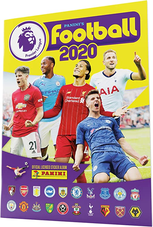PANINI FOOTBALL 2020 Premier League 25 pochettes//125 stickers