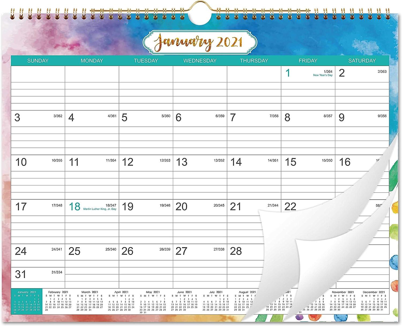 Amazon.: 2021 Calendar   Month Wall Calendar with Julian Date