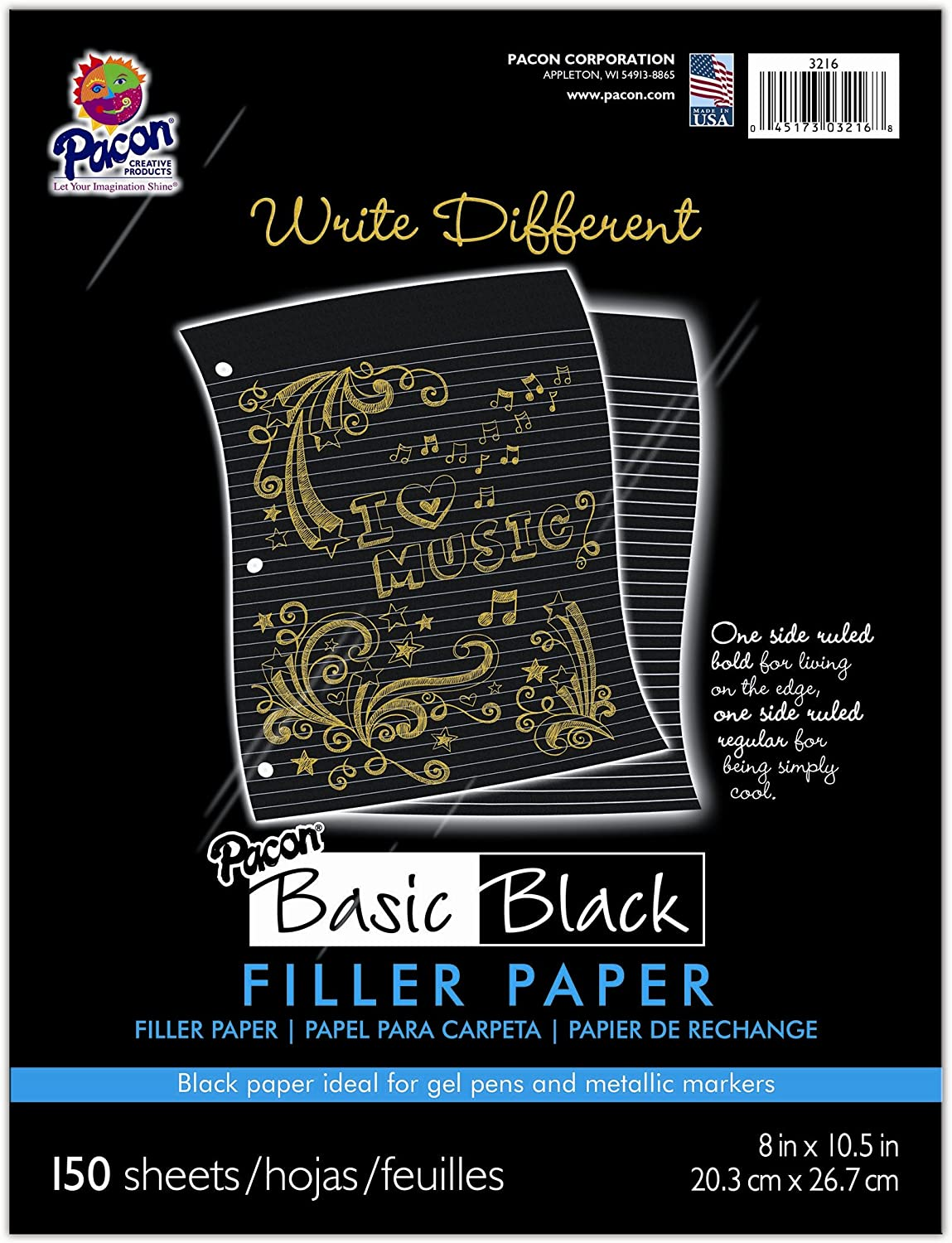Pacon Rolled Black Paper (3216)