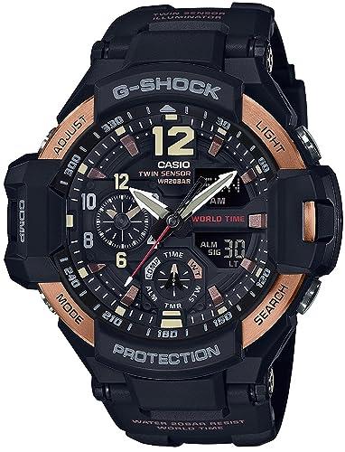 Reloj Casio G-shock Vintage negro y oro gravedad Master ga-1100rg-1ajf hombre: Amazon.es: Relojes