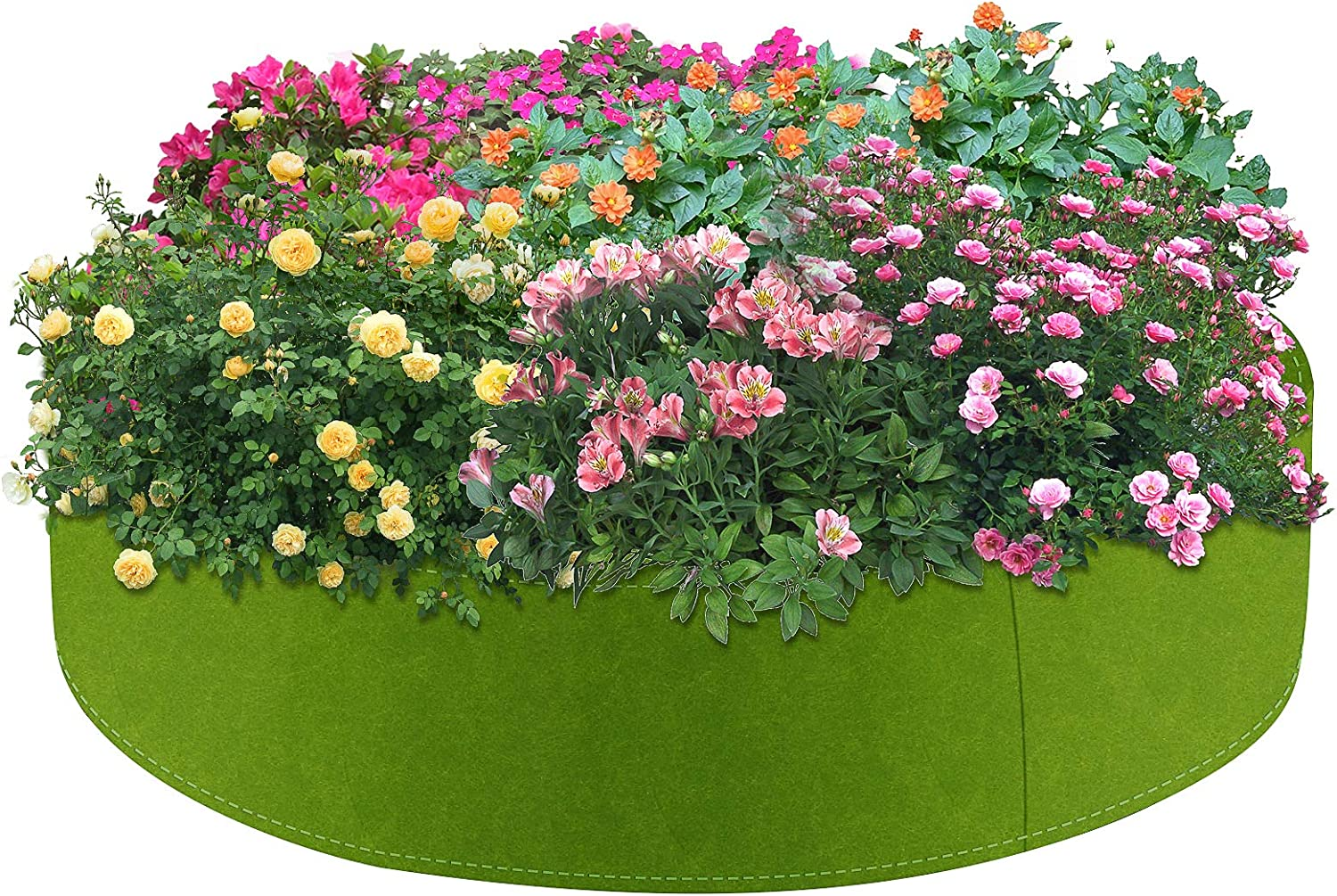 Round Raised Garden Bed, BicycleStore 100 Gallon Plant Grow Bag Heavy Duty Fabric Round Planter Pots Planting Container for Potatoes Tomatoes Strawberries Flowers Gardening, Indoors and Outdoors