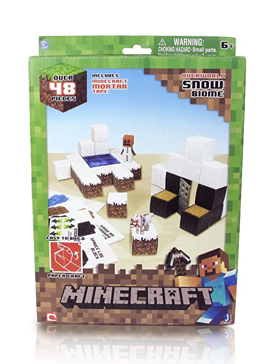 Amazon Minecraft Papercraft Minecart Set Over 48 Piece Toys
