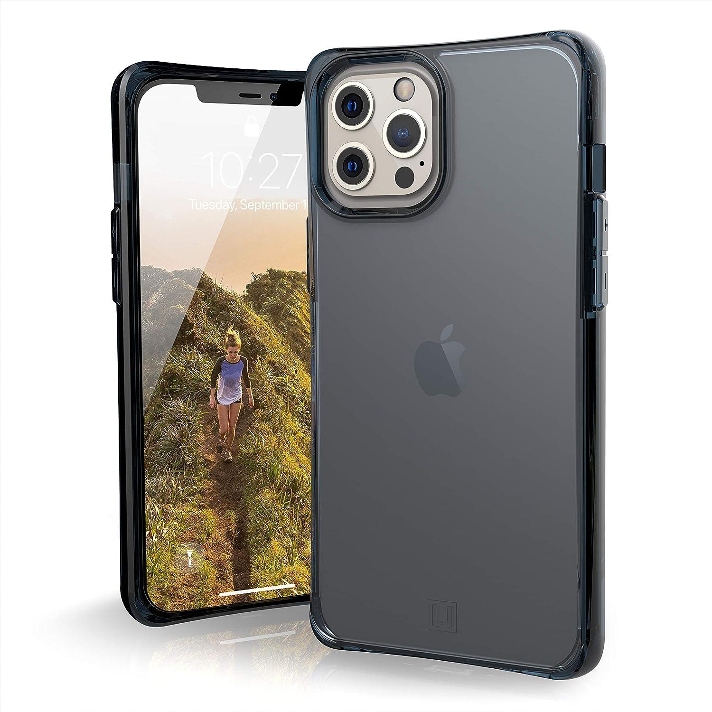 U By Uag U Mouve Schutzhülle Apple Iphone 12 Pro Max 6 7 Zoll Hülle Transparentes Case Wireless Charging Kompatibles Cover Sturzfest Ultra Slim Bumper Soft Blau Transparent Elektronik