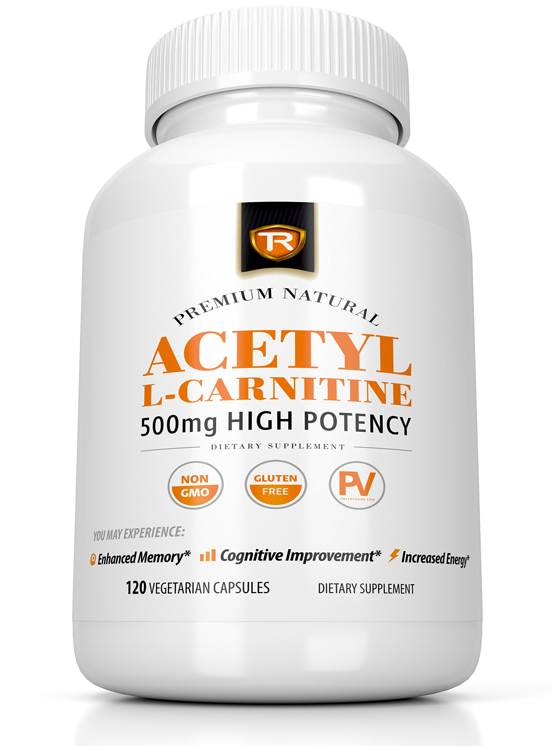 Acetyl L-Carnitine 500mg Extra Strength Supplement   120 Vegetarian Capsules - Alcar by True Recovery