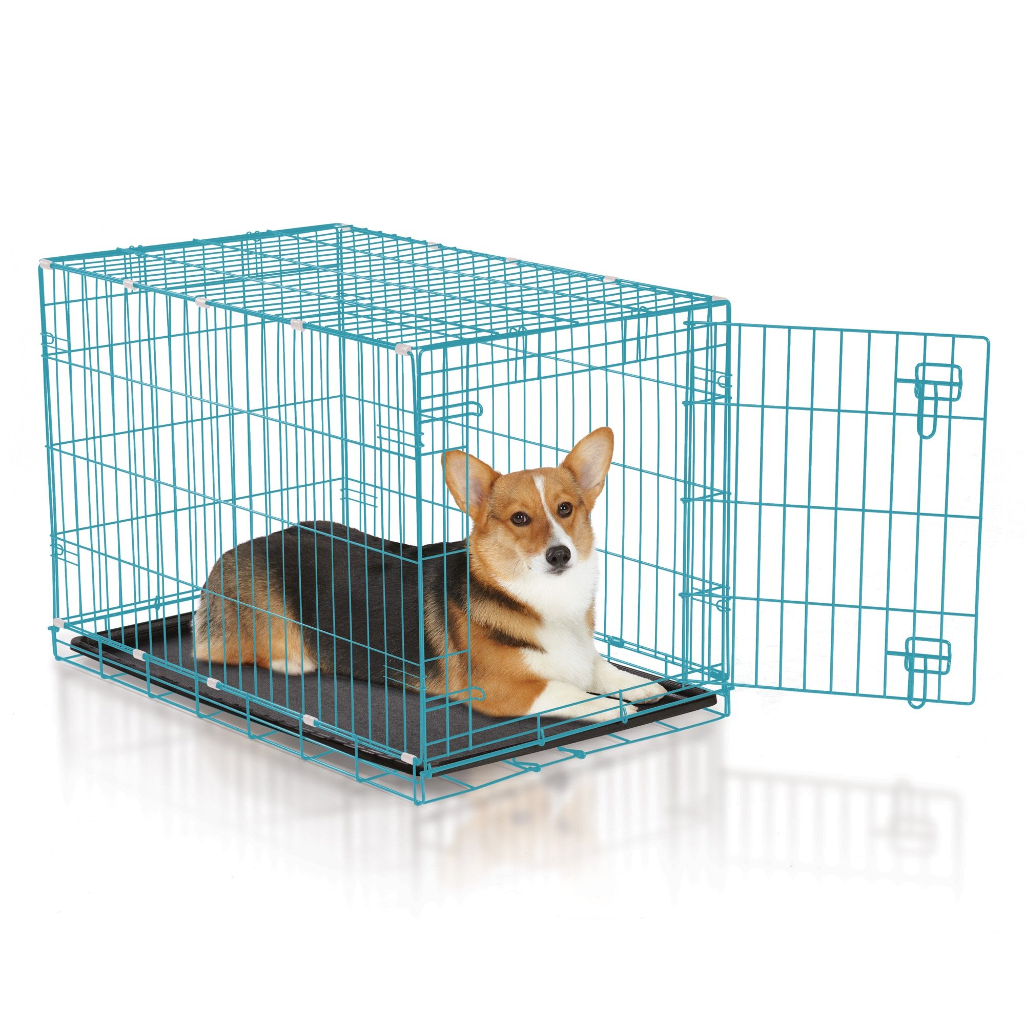 Easy Dual Latching Dog Crate, Medium/Large, Teal by Easy (Image #2)