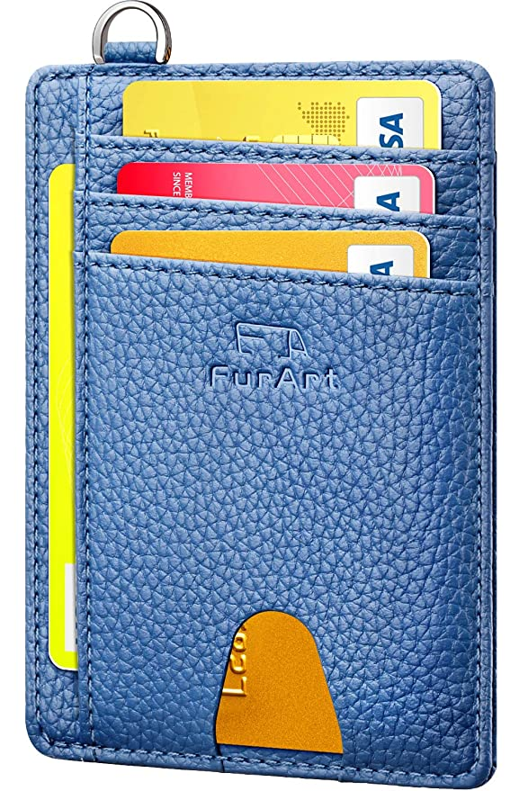 FurArt Slim Minimalist Wallet, Front Pocket Wallets, RFID Blocking, Credit Card Holder with Disassembly D-Shackle best women's RFID wallets