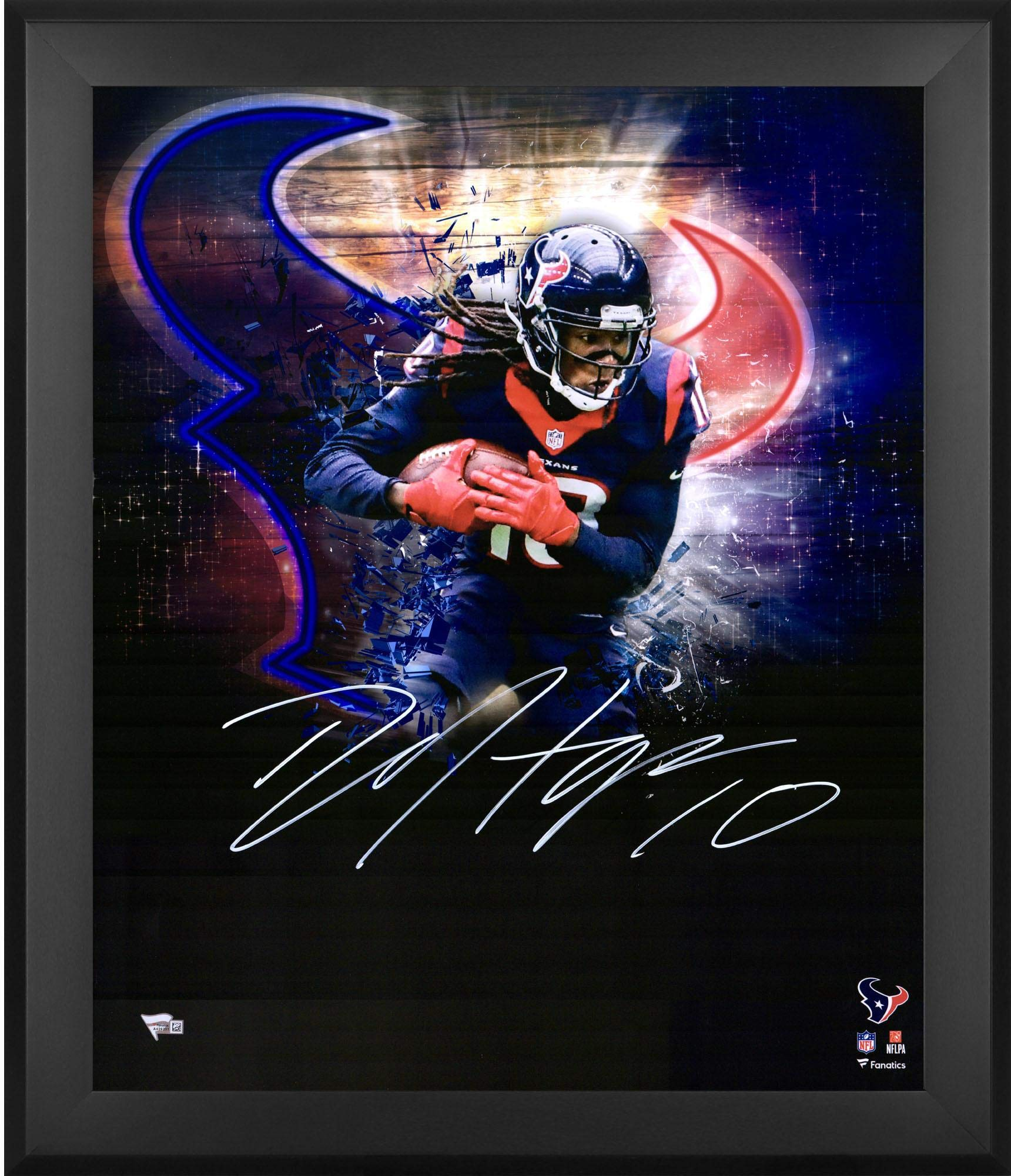 "Deandre Hopkins Houston Texans Framed Autographed 20"" x 24"" In Focus Photograph Fanatics Authentic Certified"