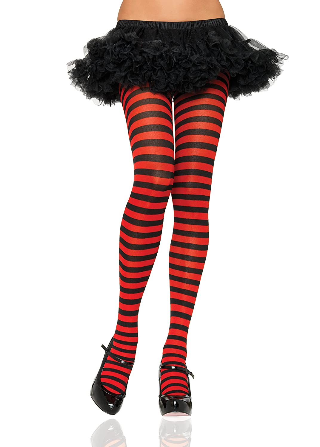 5383cd21587a7 Leg Avenue, Plus Size Stripe Tights Plus Size, Black/ Red: Amazon.co.uk:  Toys & Games