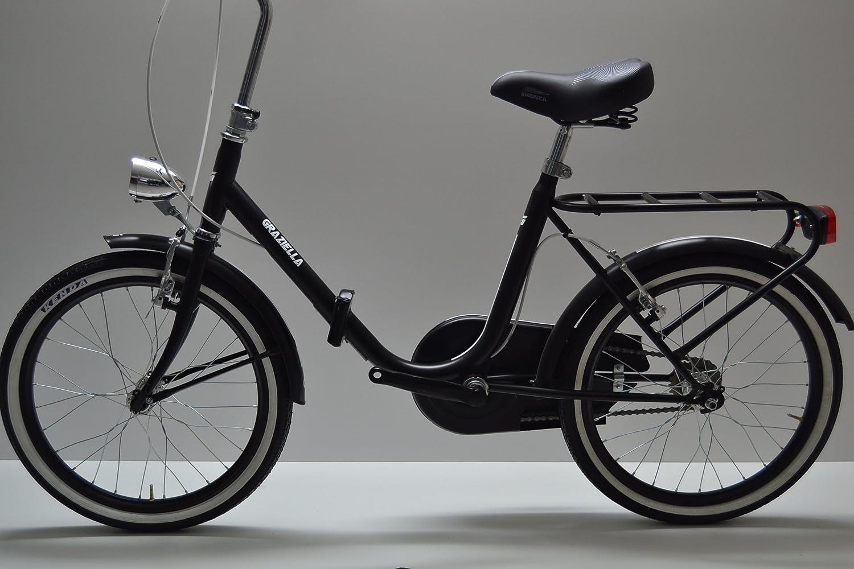 Bicicleta de paseo plegable Graziella, para hombre y mujer, 20 pulgadas; negra, blanca y gris: Amazon.es: Deportes y aire libre